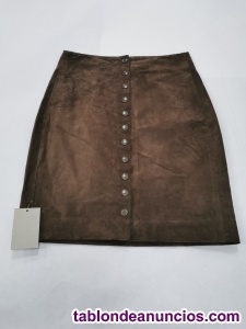 Falda pécari marrón de bimba y lola