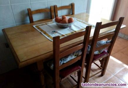 Conjunto de mesa de cocina y 6 sillas