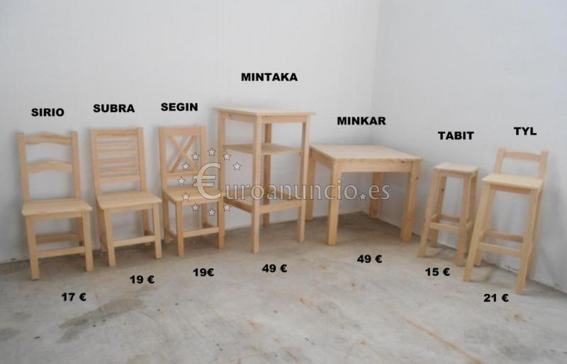 mesas y sillas supereconomicas