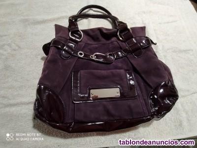 Bolso de ante color violeta