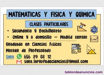 Clases Particulares Física y Química y Matemáticas Madrid