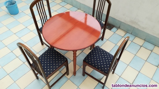 Vendo mesa comedor con 4 sillas