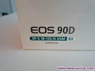 Cámara réflex canon eos 90d + ef-s