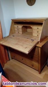 Escritorio antiguo de Suiza, madera de abeto