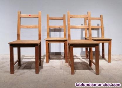 Lote 4 sillas madera