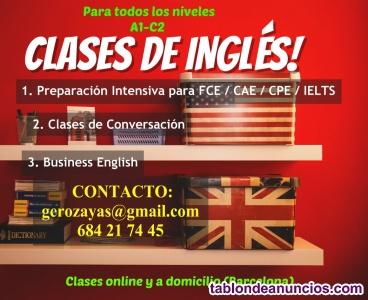 Profesor de Inglés (Todos los Niveles)