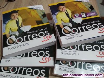 Se vende libros de oposición de correos