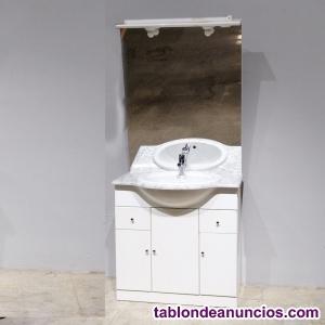 Mueble lavabo con espejo 83x55cm
