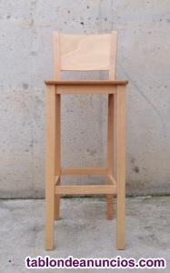 Taburetes de madera de haya 35x35x102cm