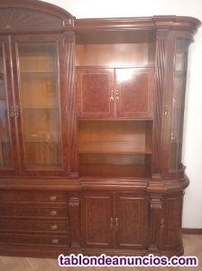 Mueble de salon de madera maciza