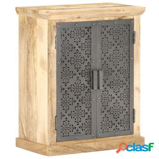 Aparador con puertas de acero madera mango macizo 60x35x75