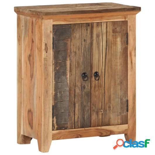 Aparador de madera de acacia y madera reciclada 60x33x75 cm