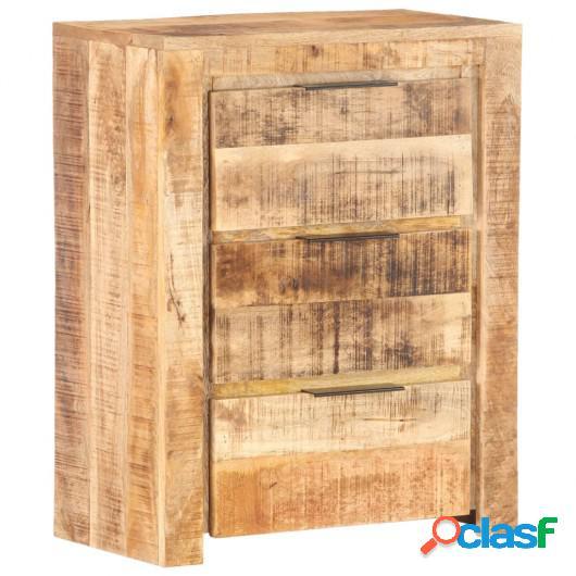 Aparador de madera de mango rugosa 59x33x75 cm
