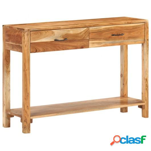 Aparador de madera maciza de acacia 110x30x75 cm