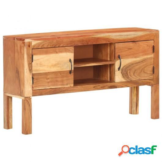 Aparador de madera maciza de acacia 116x30x66 cm