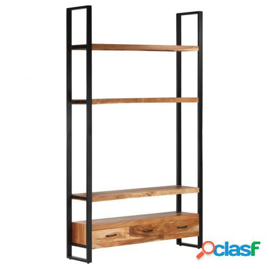 Aparador de madera maciza de acacia 118x30x200 cm