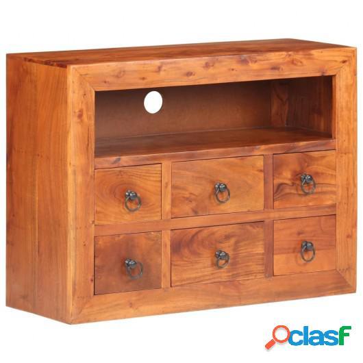 Aparador de madera maciza de acacia 80x30x60 cm
