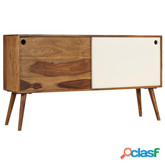 Aparador de madera maciza de sheesham 118x30x66 cm