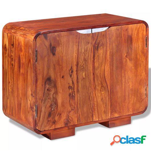 Aparador de madera maciza de sheesham 75x35x60 cm