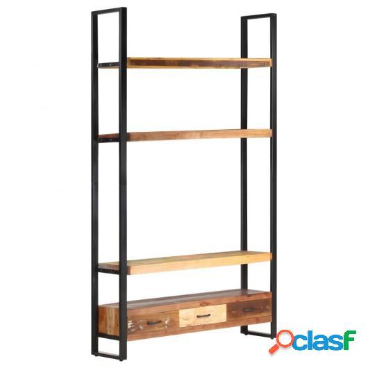 Aparador de madera maciza reciclada 118x30x200 cm