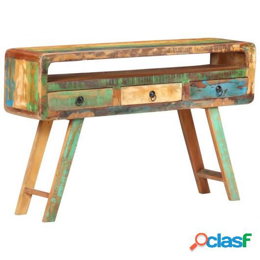 Aparador de madera maciza reciclada 120x30x75 cm