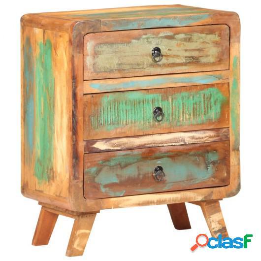 Aparador de madera maciza reciclada 60x35x75 cm