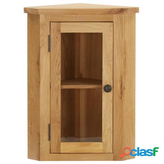 Armario de esquina montado en la pared madera roble 26x26x94