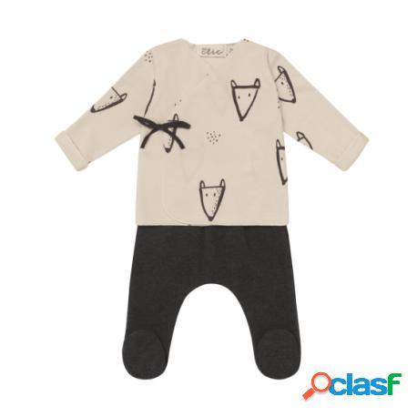 Baby Clic - Conjunto Jubón Y Polaina 0 Meses De Babyclic