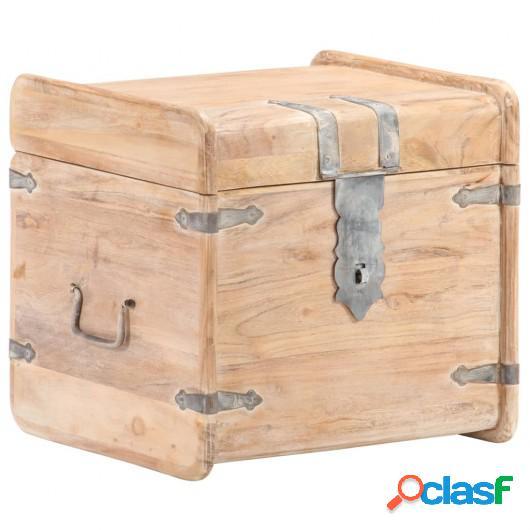 Baúl de madera maciza de acacia 40x40x40 cm