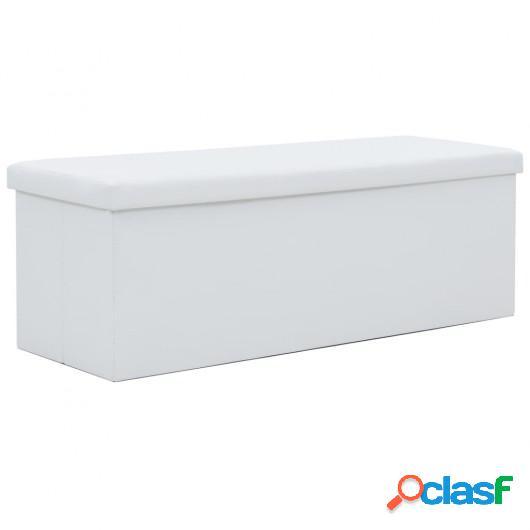Banco de almacenaje plegable piel sintética 110x38x38 cm
