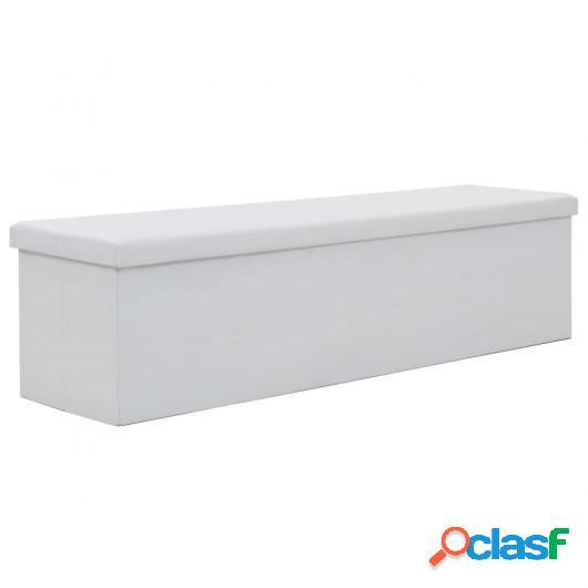Banco de almacenaje plegable piel sintética 150x38x38 cm