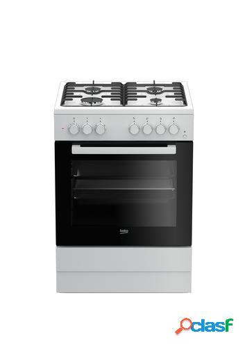 Beko FSE62110DW cocina Cocina independiente Blanco Encimera