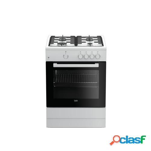 Beko FSG62000DWL cocina Cocina independiente Negro, Blanco