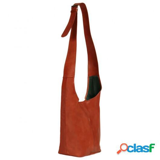 Bolso para mujer de cuero auténtico marrón canela