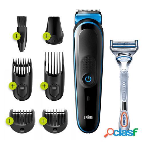 Braun 81713348 cortadora de pelo y maquinilla Negro, Azul