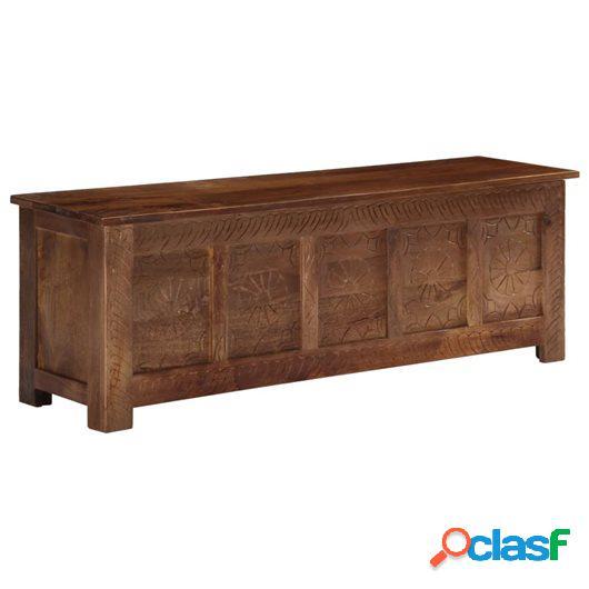 Caja de almacenaje de madera maciza de mango 120x30x40 cm