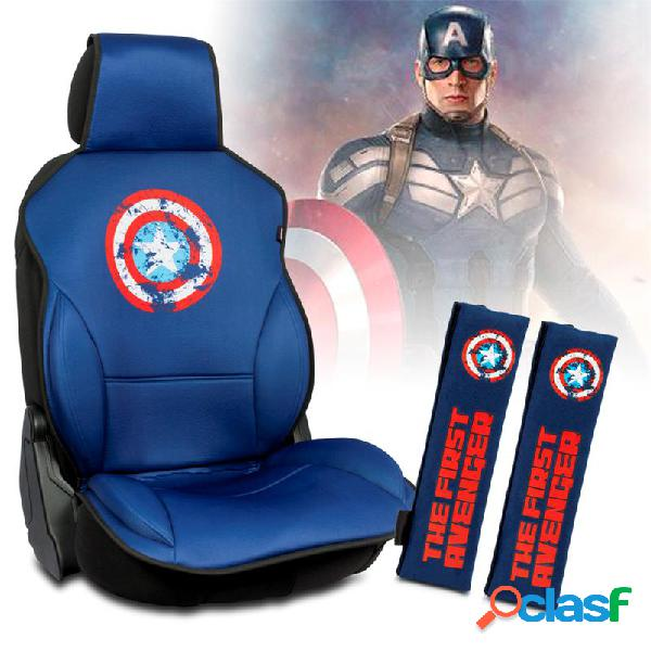 Capitán América Set de 1 Respaldo Asiento + 2 Almohadillas