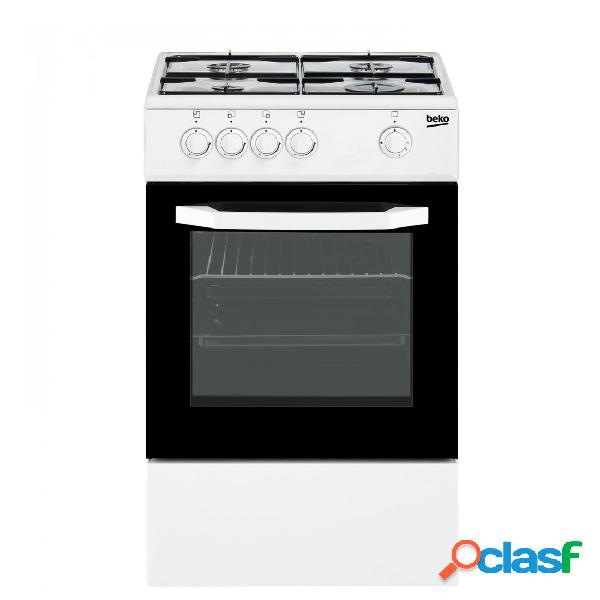 Cocina Gas - Beko CSG42009DW 50 cm 4 fuegos Blanco
