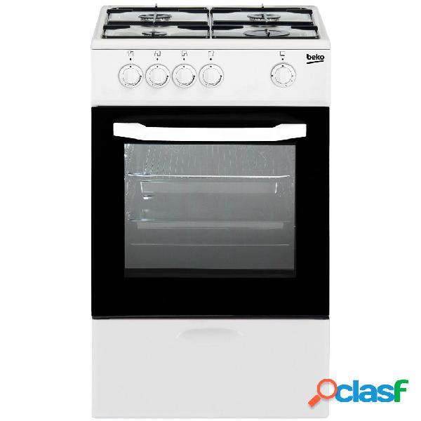 Cocina Gas - Beko CSG42010DWN 50 cm 4 fuegos Blanco
