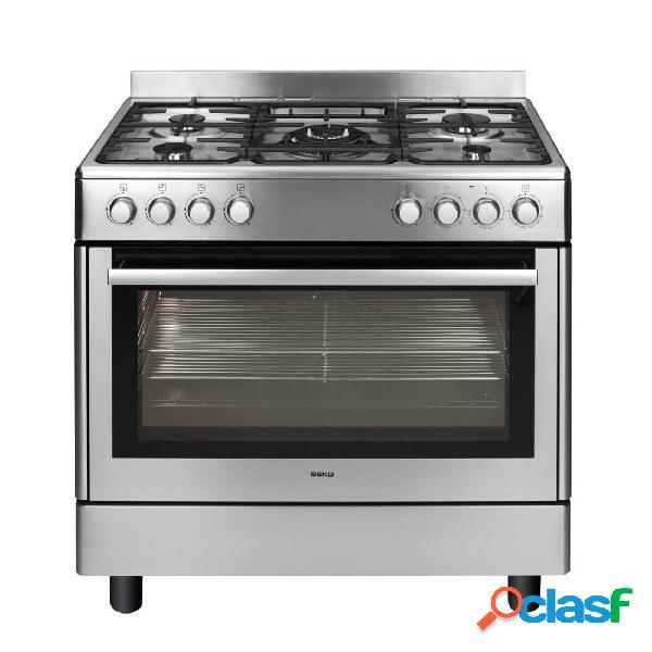 Cocina Gas - Beko GM15121DX Eficiencia B 90 cm 5 fuegos