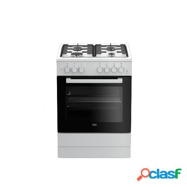Cocina Gas y Eléctrica - Beko FSE62110DW 60 cm 4 fuegos