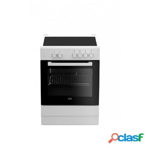 Cocina Vitrocerámica - Beko FSS67000GW 60 cm 4 fuegos