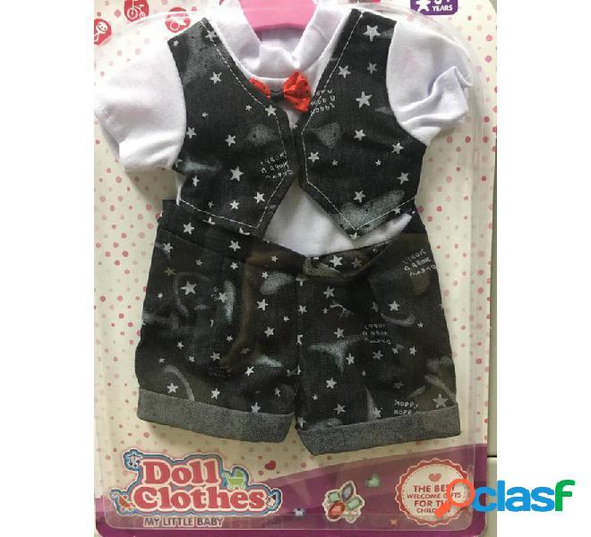 Conjunto Chaleco y Pantalón con estrellas para muñeca