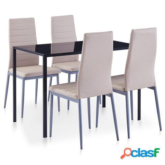 Conjunto de mesa y sillas de comedor 5 piezas color
