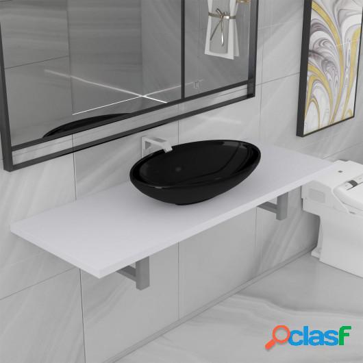 Conjunto de muebles de baño 2 piezas cerámica blanco