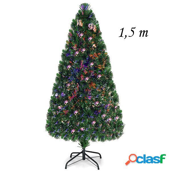 Costway 1 5m Árbol de Navidad Artificial Iluminado con