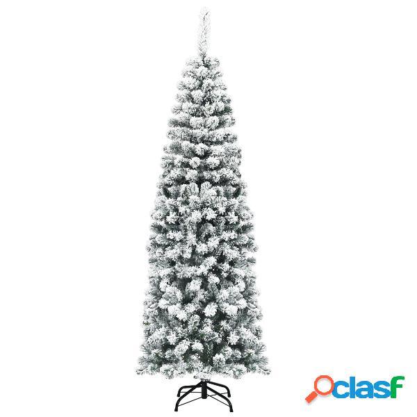 Costway 1 8m Árbol de Navidad No Iluminado con 500 Ramas
