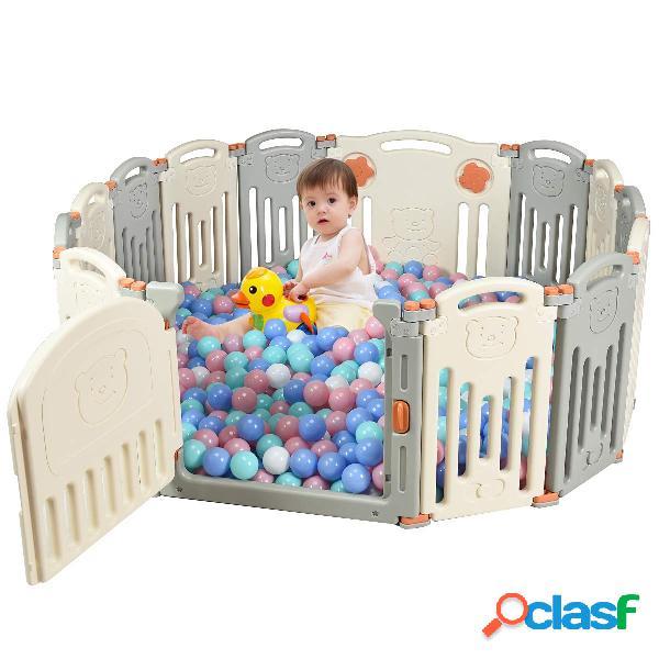 Costway 14 Panel Parque Infantil para Bebé Barrera de