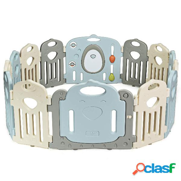 Costway 14 Panel Parque para Bebé Infantil de HDPE Parque
