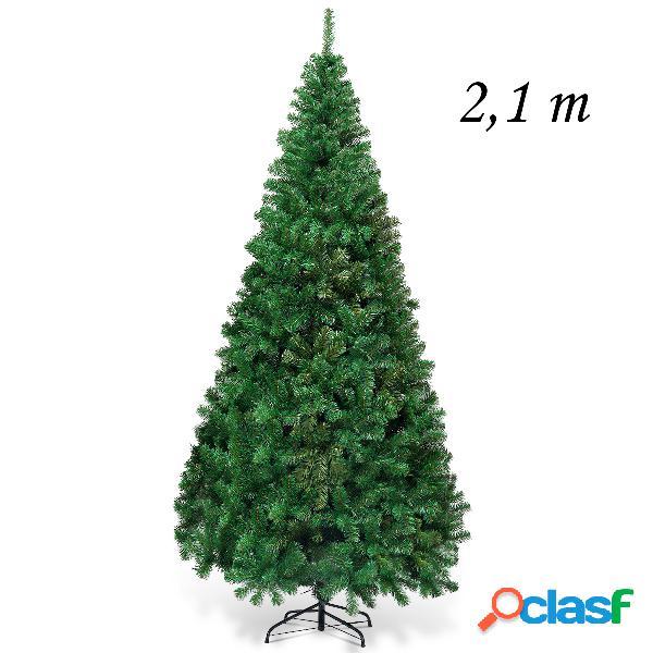 Costway 2 1m Árbol de Navidad Artificial con Base Metálica
